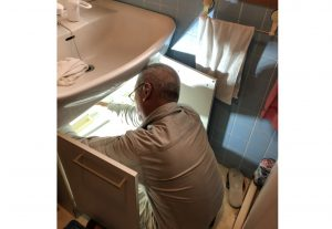 洗面台 水栓 取替