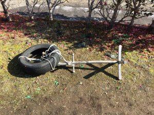 タイヤ打ち込み台