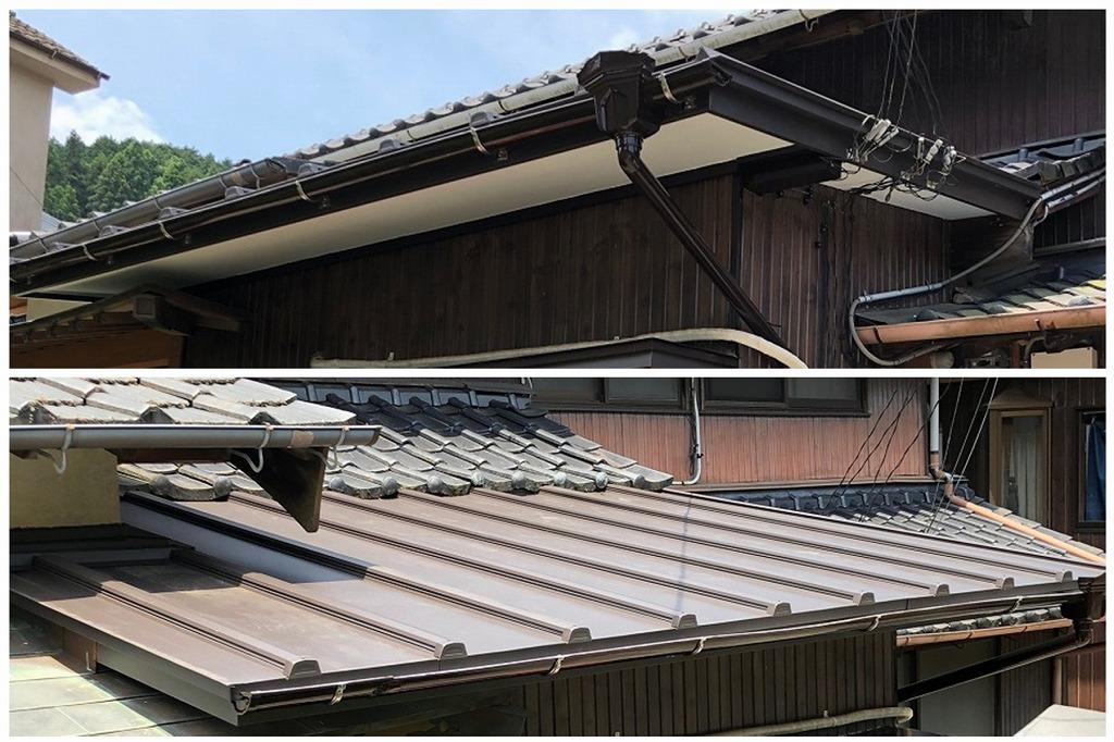屋根補修工事(カバー工法)
