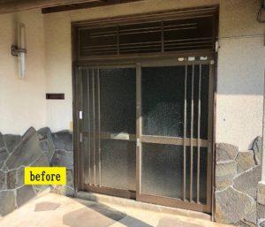 川棚町 玄関ドア取替工事